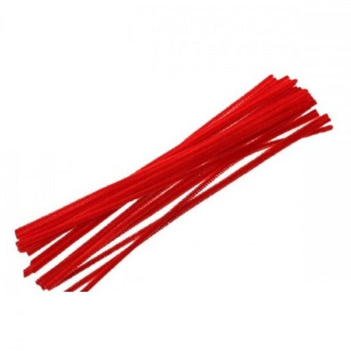 1 Fil Chenille Rouge 300 mm