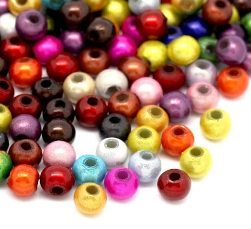 100 Perles Magiques Miracle Multicolores 4 mm