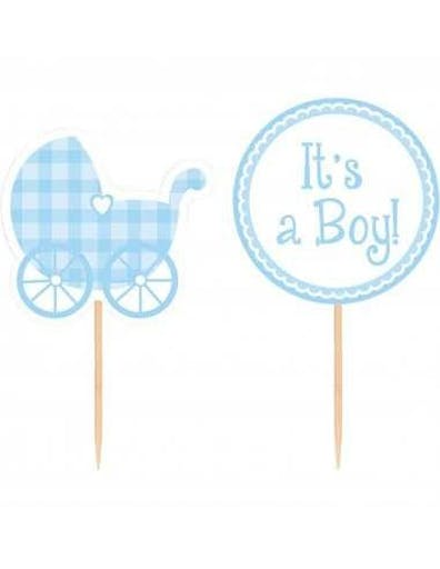 12 Cake Toppers Baby Shower It's a Boy