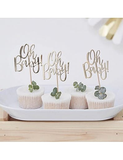 12 cupcake topper Oh Baby