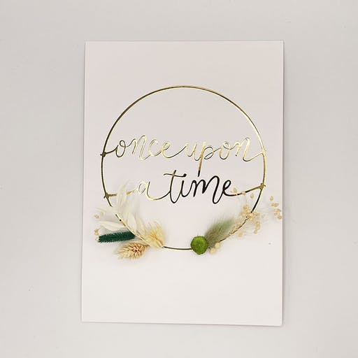 KIT jolie affichette fleurie ONCE UPON A TIME