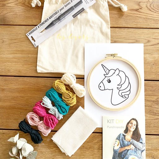 Kit DIY Punch Needle Licorne