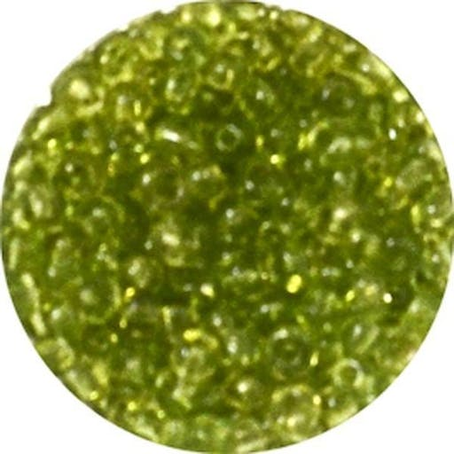 Perle rocaille Ø 2 mm Olive transparent 500 g
