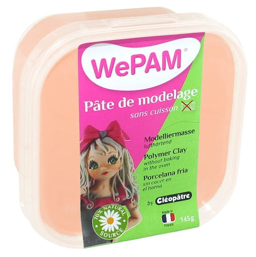 Porcelaine froide à modeler WePam 145 g Pêche