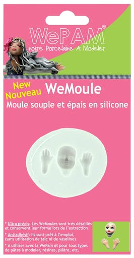Moule en silicone (Push mould)WeMoule Visage et mains