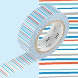 Masking Tape MT 1,5 cm Rayures multicolores