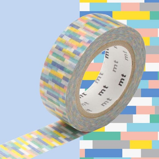 Masking Tape MT 1,5 cm Mosaic tons froids