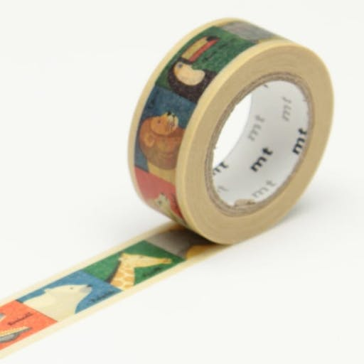 Masking Tape MT Kids 1,5 cm Animaux