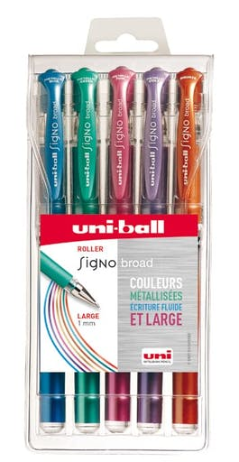 Stylo roller Signo broad Assortiment 5 pièces
