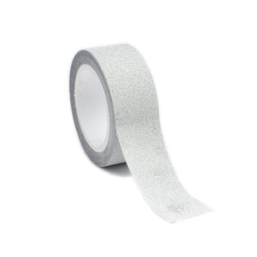 Masking Tape pailleté 1,5 cm Flocon argenté