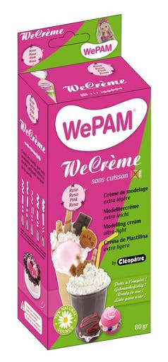 WeCreme Fausse chantilly WePam 80 gr Rose dragée