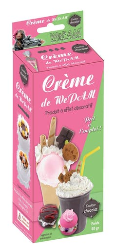 WeCreme Fausse chantilly WePam 80 gr Chocolat