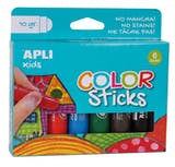 Gouache solide 6 crayons tubes (10g)