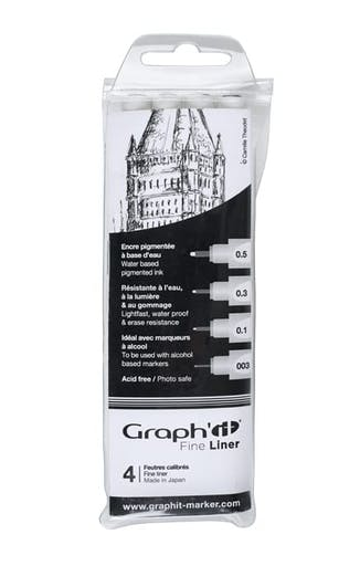 Pochette de 4 Fine liners Graph'it Noir