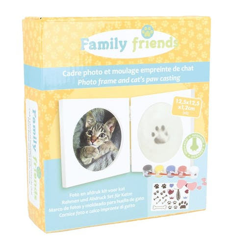 Kit Moulage Empreinte Chat Animal + Cadre photo