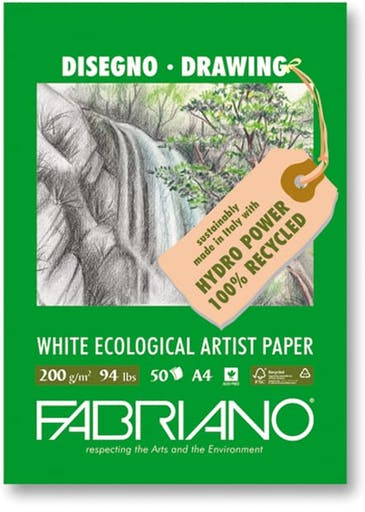 Papier Fabriano Blanc Ecological Artist Paper A4 200g 50 f.