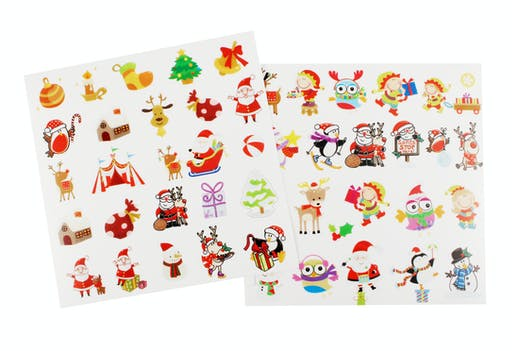 Stickers transparents Noël Assortiment Rigolo 48 pièces