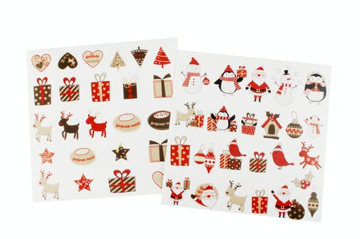 Stickers transparents Noël Assortiment Joie 48 pièces