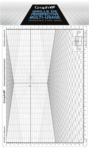 Grille de perspective Graph'it A oblique