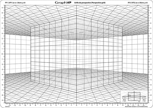 Grille de perspective Graph'it D Cube en perspective oblique