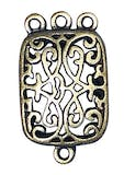 Pendentif filigrane Doré ancien Rectangle 4 pièc.