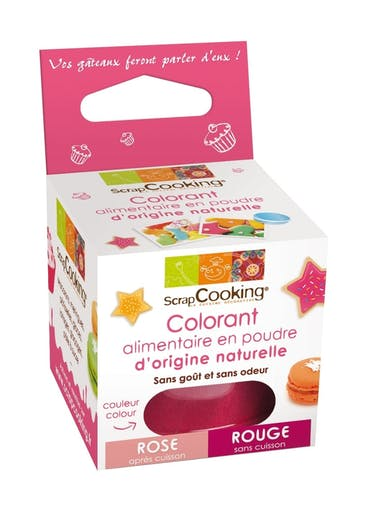Colorant alimentaire (naturel) Rouge/Rose