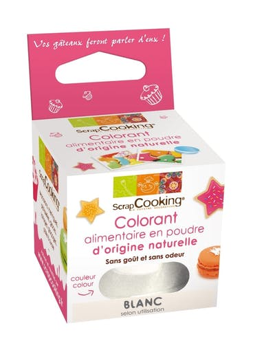 Colorant alimentaire (naturel) Blanc