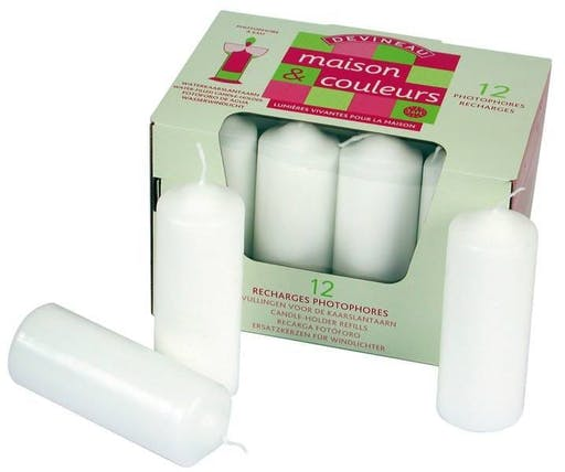 Bougies blanches Ø40 H 110 mm 12 pièces