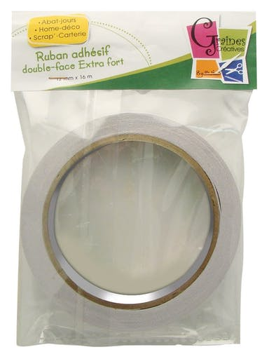 Adhésif double face extra fort 12mm x 16 m