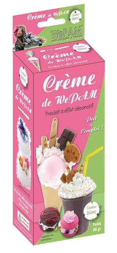 WeCreme Fausse chantilly WePam 80 gr Blanc