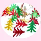 100 attaches parisiennes sapins de Noël, brads scrapbooking