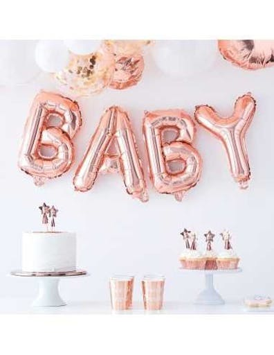 Ballon Lettre Rose Gold Baby