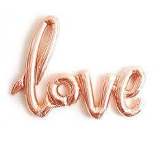 Ballon Love rose gold taille 108 x 63 cm