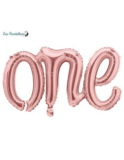 Ballon One Rose Gold 66 X 37Cms