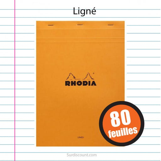BLOC NOTES 21X29,7 LIGNE 80F RHODIA