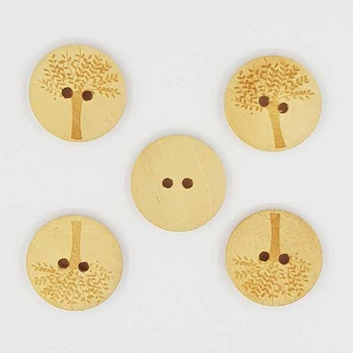 Bouton bois Rond 20 mm N°03