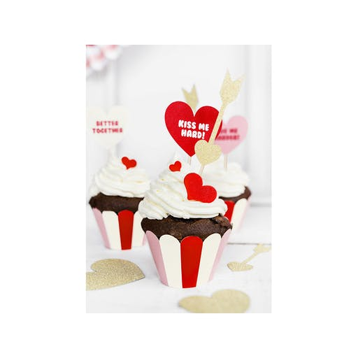 Caissettes cupcakes Sweet Love x 6