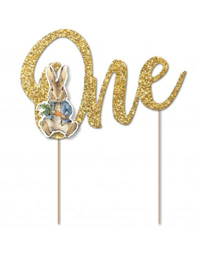 Cake Topper Pierre Lapin One Anniversaire 1 an