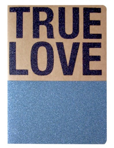 Carnet Pailleté Format A5 Message TRUE LOVE