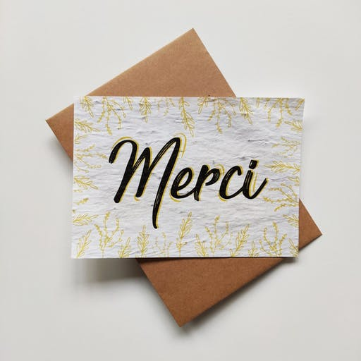 Carte à planter – Merci
