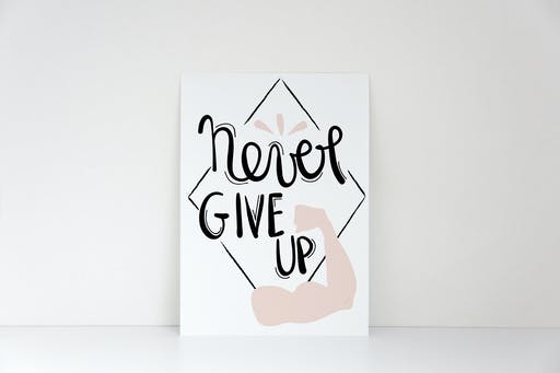 Carte-Never give up