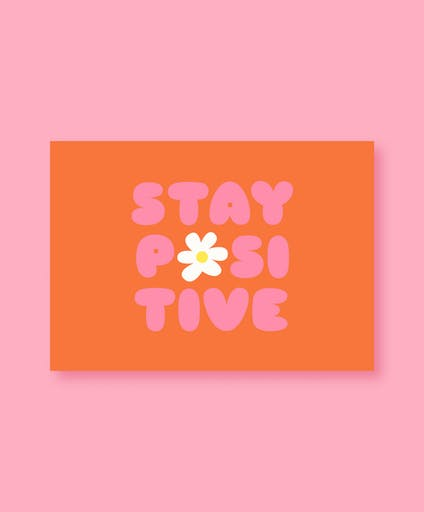 Carte Stay Positive