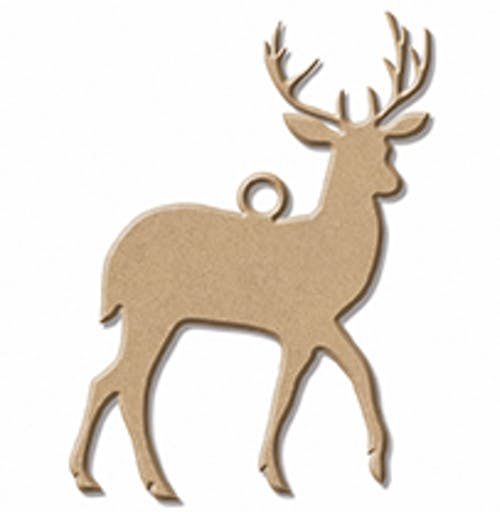 CHRISTMAS WOOD CERF 2
