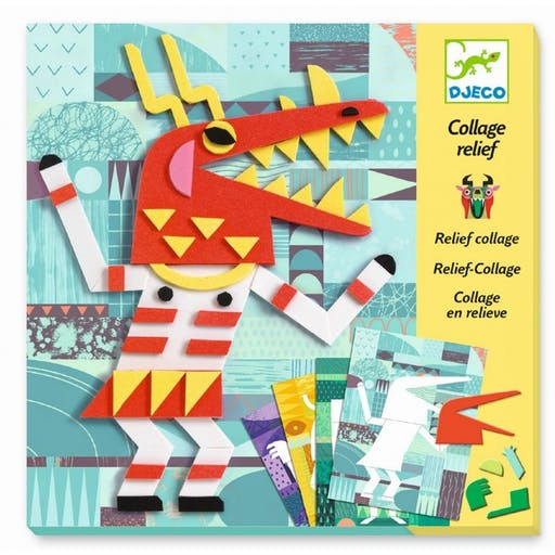 COLLAGE RELIEF MONSTERS GALLERY - DJECO