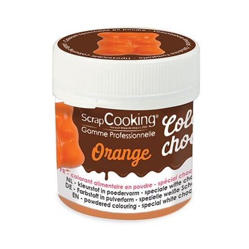 Colorant alimentaire liposoluble Color'choco 5 g - orange