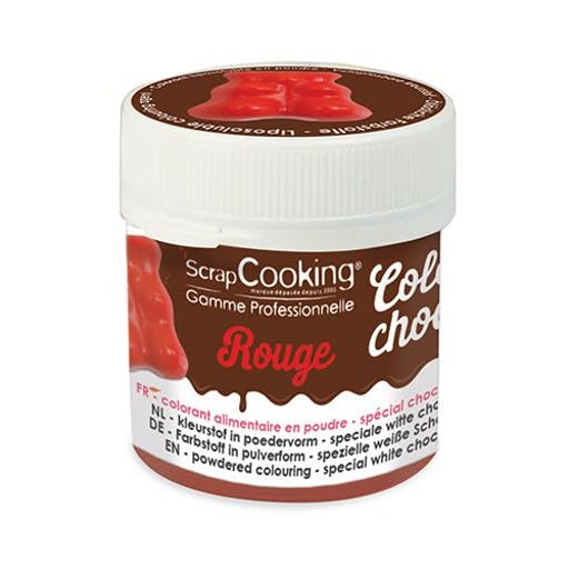 Colorant alimentaire liposoluble Color'choco 5 g - rouge
