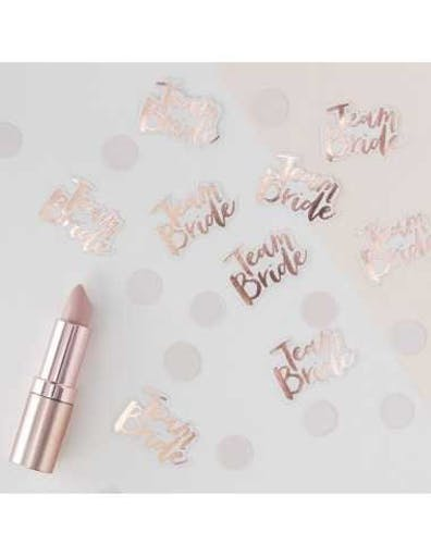 Confettis de Table EVJF Team Bride Rose Gold