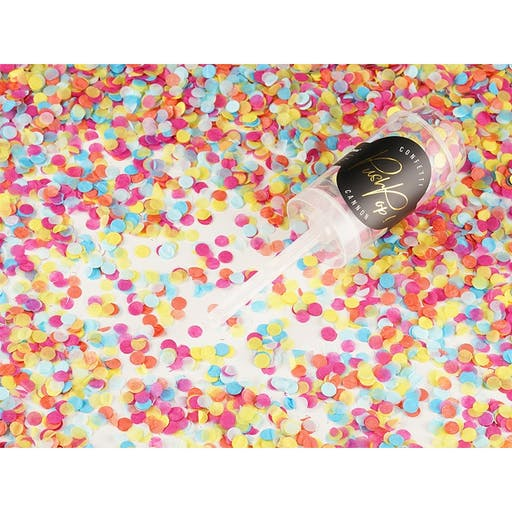 Confettis push pop multicolore