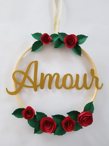 Couronne roses Amour