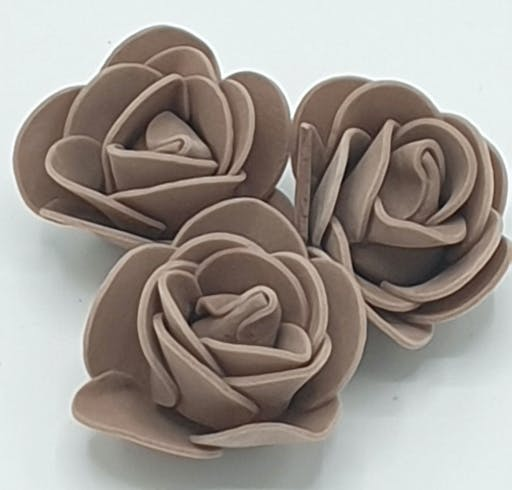 Fleurs en mousse lot de 10 ( Marron )